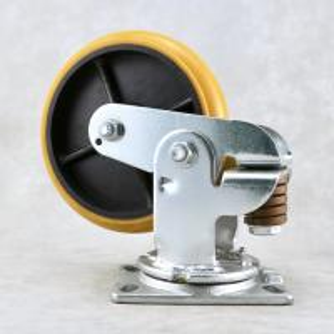 China Industry Shock Absorbing Casters / Spring Loaded Heavy Duty Trolley Wheels on sale