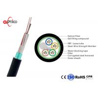 Buy cheap Rodent Resistance Fiber Optic Cable 48 Core Steel Tape Armored Single Mode Fiber G652D product