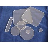 Buy cheap Round clear quartz sheet product