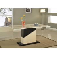 Buy cheap High Light White Marble Dining Tables MDF Wood Base For Luxury Office from Wholesalers