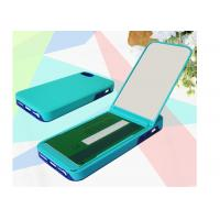 Buy cheap Mirror Function iPhone 5s Cell Phone Cases Leather Red For Girl product