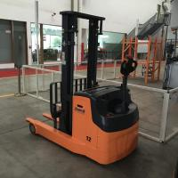 China Electric Pedestrian Reach Stacker 1.2 Ton, with Adjustable Fork Width and AC CURTIS controller for Narrow Aisle on sale