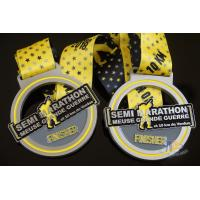 Buy cheap Sports Semi Marathon 10KM Custom Medals, Create a Design Soft Enamel Medallion With Ribbon product