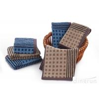 Luxury 500gsm Blue And White Striped Hand Towels For Home / Office