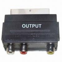 Buy cheap SCART Jacks Connector with Nickel Plating, Available in Black product