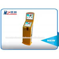 Buy cheap IR Touch Screen Self Service Ticket Vending Kiosk Back LED Light Advertising Panel product