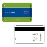 Buy cheap Silk Screen Printing PVC Magnetic Stripe Cards Gold / Silver Background product