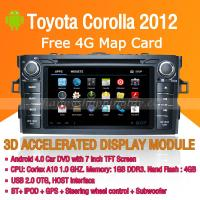 Buy cheap Android Car DVD Player GPS Navigation Wifi 3G for Toyota Corolla 2012 Bluetooth Touch Screen product