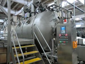 High speed Air-flow Atomization Intermittent Fabric Dyeing Machine Low Bath Ratio