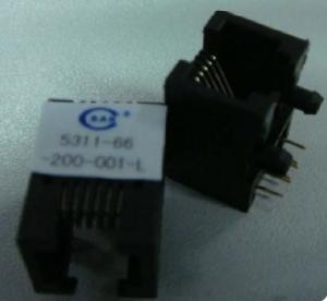 Puerto del conector modular del plástico Rj45 solo sin el LED para el cable Cat5/Cat6
