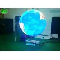 Quality 360 Degree Flexible Outdoor Advertising Led Display Screen Indoor Ball Sphere P4.8 for sale