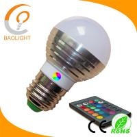 China Christmas lighting colors changing RGB led bulb 3W with remote control on sale