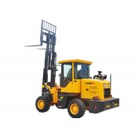 4.4 Ton Small Small All Terrain Forklift , 4 Wheel Drive Forklift CE Approved