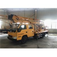 Buy cheap 28M Composite Boom Aerial Work Platform Truck With 3 And 1 Section Telescopic Boom product