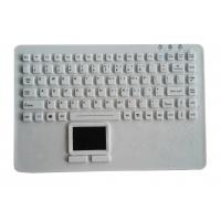 Buy cheap Laptop type washable silicone rubber medical keyboard with touchpad for nursing gloves product
