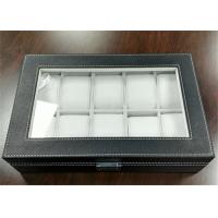 Buy cheap MDF Covered Leather Mens Watch Display Case , Watch Collection Box 10 Slots product