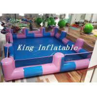 Buy cheap Custom 0.9mm PVC Pool Type Inflatable Swimming Pool With Blue And Pink , 12x8m product