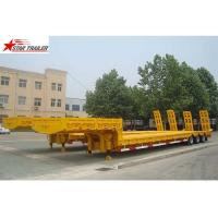Quality Heavy Duty Hydraulic Low Bed Semi Trailer Swan Neck Gooseneck Light Yellow for sale