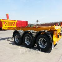 Buy cheap TITAN tipping equipment trailer container dump trailer 40 ton flatbed container trailer for sale product