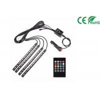 Buy cheap Car LED Strip Light Kit 4pcs DC 12V Multi Color Music Light With Sound Active product