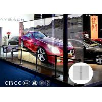 Buy cheap 14kg Light Weight Transparent Led Display 80% Smd Pixel 10mm For Glass Windows product