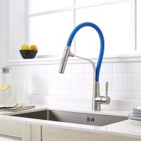 Quality Factory good quality single handle flexible colorful kitchen faucet with black for sale
