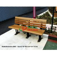 Wood Plastic Composite Outdoor Park Benches , Composite Wood Bench With Back