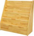 Buy cheap Natural Color Kindergarten School Furniture , Wooden Movable Bookshelf For Kids Room product