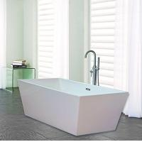 Buy cheap Narrow Edge Portable Acrylic Freestanding Bathtub With End Drain Lightweight product
