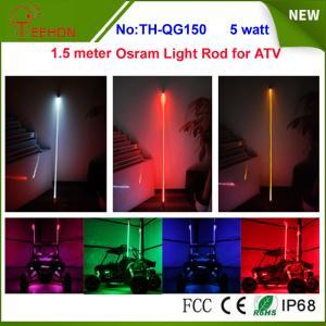 Buy cheap 5 watt 5 inch Osram multi color whit it light rod LED whip for ATV or SXS product