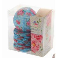 Buy cheap Red Battery Operated Lantern String Lights Paper Material With Rose Flower Patterned product