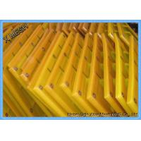 Buy cheap 25mm Mining Screen Mesh , Polyurethane Screen Mesh Yellow Fit Coal Industrial product