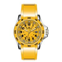 Buy cheap Yellow Silicone Rubber Wristband Watch Men Stainless Steel Analog Dial product