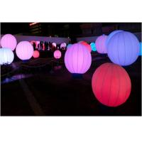 Buy cheap Event Inflatable Advertising Products , Led Lighted Colorful Inflatable Ground Ball product