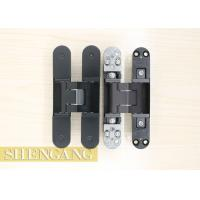 Burglar Resistance Invisible Door Hinges Adjustable Black For Exterior Doors