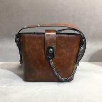 Buy cheap With 10 years manufacturer experience factory women hobo handbags vintage genuine leather lady shoulder Bags Brown color product