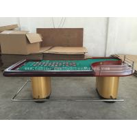 Roulette beautiful modern poker table gold with metal holders and two