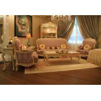 Buy cheap Parquetry and Golden Decortation in Wooden Carving Frame with Fabric Upholstery Sofa product