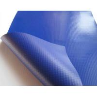 China Fireproof 1680D Blue PVC Tarpaulin Fabric 14oz To 42oz / Sqm For Truck Covers on sale