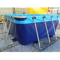 Buy cheap Durable Lightweight PVC Inflatable Swimming Pool With Metal Frame Home Use product