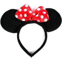 Quality Disney Headband Hat - Plush Minnie Mouse Ears Costume Accessory With Bow For Party for sale