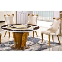 Buy cheap 8 persons round marble table with Lazy Susan dining room furniture product