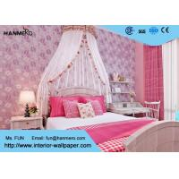 Bedding Room Purple Modern Removable Wallpaper For Bedroom Walls , Moisture Proof