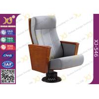 Buy cheap Anti - Aging Leather Powder Coating Wood Table Chairs For Church Auditorium product