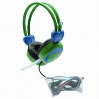 Buy cheap Wired Headset with 20 to 20kHz/25mW Rated Power/3.5mm Plug/40mm Driver/6.5mm Microphone/1.5m Cable product