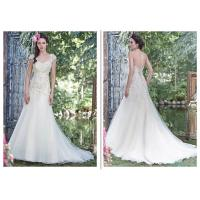 Embroidery Romantic Bohemian Wedding Dresses With Elegant Long Train