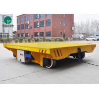 Buy cheap Steelmills Foundries Automated AC-Powered Track Mounted Transfer Cart Heavy Duty Platform Trolley product
