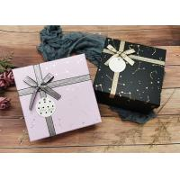Buy cheap Constellation Printing Gift And Shopping Cardboard Storage Boxes With Shiny Belt from wholesalers