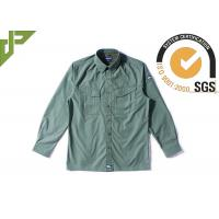 Buy cheap Olive Green Military Style Shirts For Police Department / Army Scratch Resistant product