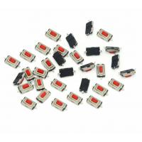 Mechanical Contact Micro Tactile Switch SMD 3*6*2.5H 1 Pole 1 Throw Red Color